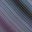 Joseph Abboud Silk Tie Mens Necktie Narrow Stripe Silver Blue Purple Black 59.5