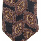 Jonathan Silk Necktie Black Paisley Purple Plum Tan Designer Mens Tie 58