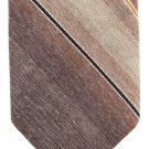 Don Loper Cashiana Vintage Necktie Mens Boys Tie Stripe Brown Khaki Tan Retro Mod Fashion Short 53