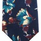 Geoffrey Beene Italian Silk Necktie Mod Flowers Blue Teal Aqua Rose Vintage Retro 58