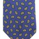 Ralph Lauren Polo Necktie Purple Green Paisley Narrow Tie Italy Narrow Youth Boys Size 50