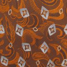 Joseph Abboud Woven Silk Tie Mens Necktie Paisley Feather Mod Copper Orange Gray Tapestry