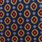 Jos A Bank Silk Necktie Silk Jacquard Blue Gold Red Medallion Luxury Designer Tie