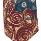 Fabienne Vintage Necktie Mens Fashion Tie Mod Abstract Teal Maroon Khaki 57