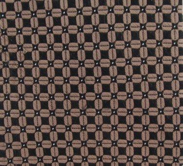 Ralph Lauren Silk Necktie Extra Long 60 Khaki Tan Black Jacquard Small Print Luxury Mens Tie