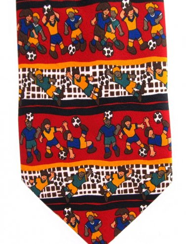 Kids Playing Soccer Novelty Necktie Ball Goalie Childrens Miracle Network 57