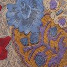 Erreuno Milano Italian Silk Necktie Extra Long 60 Floral Art Nouveau Abstract Blue Gray Purple