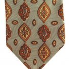 Joseph Abboud Woven Silk Tie Mens Necktie Jacquard Olive Green Teardrop Medallion Paisley Flower 58