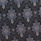 Don Loper Beverly Hills Italian Silk Art Nouveau Flower Sconce Black Blue Silver 56.5