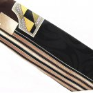 Gianno Vintage Necktie Italian Silk Geometric Metallic Black Brown Gold Disco Fever 58