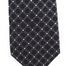 Extra Long Silk Necktie Tie Donald Trump Black White Diamond Dots 60.5