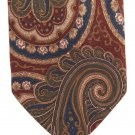 Pierre Balmain Italy Vintage Necktie Silk Tie X Long 61 Large Paisley Brown Crimson Blue