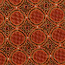 Extra Long Silk Necktie Bocara 67 Inch Big Tall Orange Rust Brocade Jacquard Medallion Flower