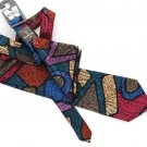Wembley Necktie Pocket Square Handkerchief Tie Modern Stained Glass Metallic Gold Teal Raspberry 57