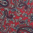 Hardy Amies London Necktie Silk Tie Red Blue Paisley Vintage Classic 56 Saville Row