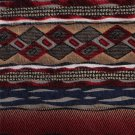 Chez Roffe Necktie Italian Silk Tie Modern Tribal Ziz Zag Abstract Earth Blue Brown Maroon 57