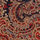 Beau Brummell Vintage Necktie Designer Tie Large Paisley Red Blue Tan Short 55