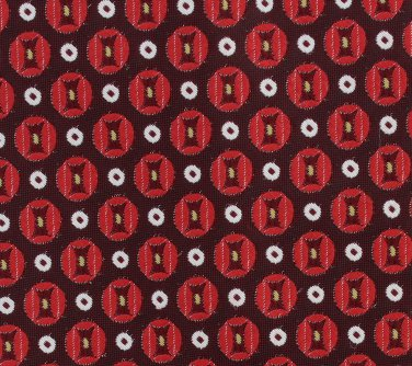 Don Loper Groovy Vintage Necktie Mens XL 63 Tie Small Circle Dots Red Brown White