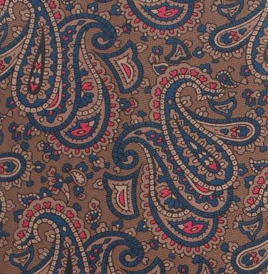 Hanover Paisley Silk Necktie Mens Tie Brown Coco Blue Red Classic Executive 58