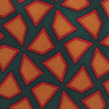 Frank Sinatra Stonehenge Silk Necktie Abstract Emerald Green Caramel Red Simplicity Premier