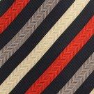 Colours Alexander Julian Silk Necktie Extra Long 61 Mens Tie Stripe Blue Red Tan Gold