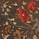 Ricardo Benetti Silk Necktie Extra Long 60 Mens Tie Floral Army Green Rust Tan