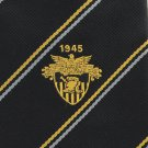 West Point Military Academy Necktie Tie 1945 USMA Emblem Army Graduate Cadet Black Gold