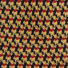 Winnie The Pooh Necktie Italy Mens Tie Disney Blue Gold Red Small Pattern Long 59