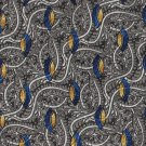 Mark Pendleton Silk Necktie Italy Tie Black Silver Mod Paisley Royal Blue Peacock 59