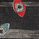 Surrey Italian Silk Necktie Mens Tie Modern Surfboard Shield Black Red Aqua 56