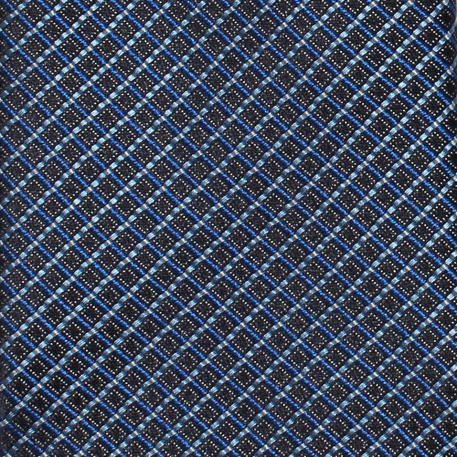 Geoff Nicholson Italy Woven Silk Necktie Tie Blue Black Classic Executive Long 59