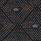Italianissimo Microfiber Necktie Tie Modern Triangle Dots Black Gold Blue 56
