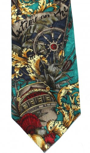 Mutiny On The Bounty Necktie Italian Silk Tie Film Classics Movie Hollywood 58