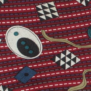 JT Beckett Necktie Mens Silk Tie Funky Modern Abstract Maroon Gold Teal Purple 59