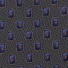 Ferrell Reed Veritas Italian Silk Necktie Black Purple Herringbone Chevon 58