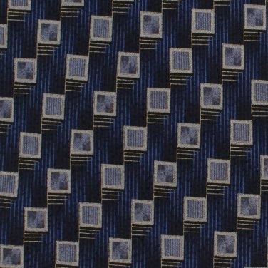 Salvatore Pellegrino Extra Long Tie 63 Necktie Italian Silk Blue Gray Shadow Box