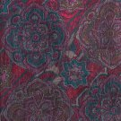Oleg Cassini Vintage Tie Mod Paisley Disco Rose Teal Purple Shine Funky 57