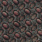 Italian Silk Necktie Extra Long 60 Mens Tie Ruffini Mod Ovals Links Green Maroon