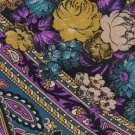 JT Beckett Italian Silk Paisley Necktie Mens Tie Purple Gold Black Flowers 57