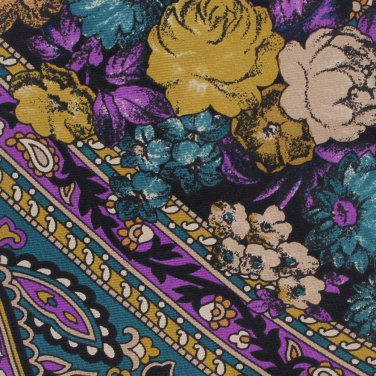 JT Beckett Italian Silk Paisley Necktie Mens Tie Purple Gold Black Flowers 57