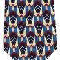 Fumagalli Italian Crepe Silk Necktie Mens Tie Abstract Blue Red Yellow 58