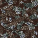 Bert Pulitzer Silk Tie Mens Necktie Mod Leaf Carob Brown Teal Diamonds 57
