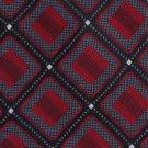 Antonio Fellini Silk Necktie XL 64 Mens Tie Woven Square Diamond Red Black Checker