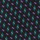 Robert Talbott Silk Necktie Mens Tie Teal Purple Black Woven Diagonal Mod Stripe 58
