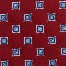 JOS A Bank Silk Necktie Mens Tie Woven Crimson Red Blue Diamond Exectutive 58