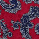 Lord Taylor Italian Silk Paisley Necktie Tie Cranberry Crimson Blue Executive Fashion 57.5
