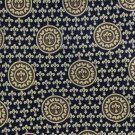 Fleur-de-lis Silk Necktie Rene Chagal Extra Long 61 Mens Tie Blue Gold Medallion
