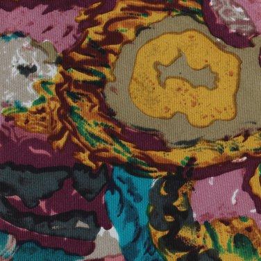 Enrico Coveri Italian Silk Necktie Mens Tie Abstract Colorful Plum Yellow Teal 57