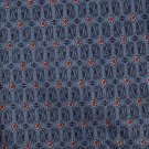 Luigi Valentino Necktie Vintage Steel Blue Red Diamond 56 Sateen Polyester