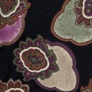 Paisley Silk Necktie Mens Tie Boston Trader Mod Large Floral Black Purple Green 58
